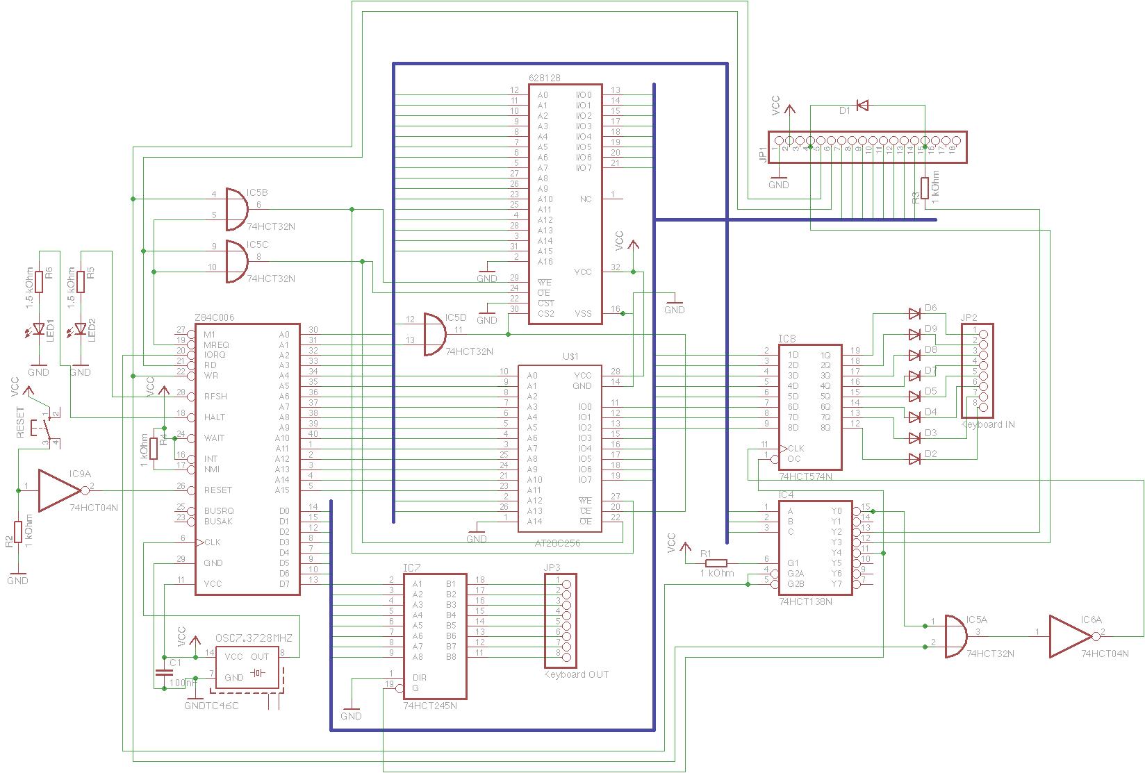 Z80 Single Board Computer | Olli's