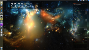 My Ubuntu desktop at night.