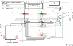 Circuit of the WiFI board with 16C550 and USR-WIFI232-T